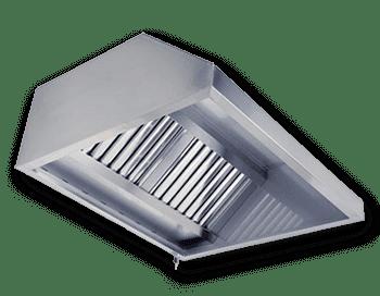 Вытяжной пристенный зонт с жировыми фильтрами